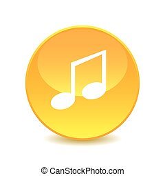 Music note , Music note Icon Vector on the background , vector