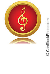 Music note sign icon.