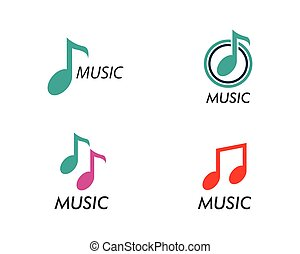 Music note vector icon