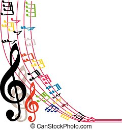 Music notes background, musical - Music notes background,...