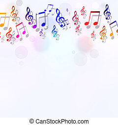 Music Notes Bright Background