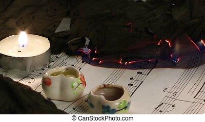 Music notes Burning