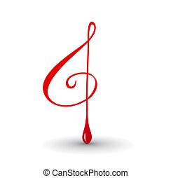 Music notes for design use your project,  illustration