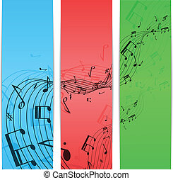Music notes color