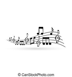 Music notes, design element,