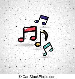 music notes design