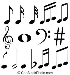 Music Notes - easy to edit vector illustration of music...