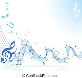 Music notes - Abstract music notes sheet background
