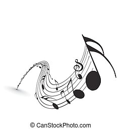 Music notes for design use, vector illustration