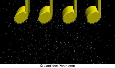 music notes in 3d