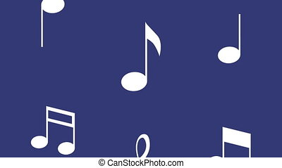 music notes pattern in blue background