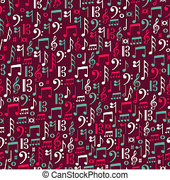 Music notes seamless patternillustration