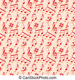 Music notes. Seamless wallpaper.