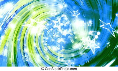 Music notes stars swirling loop