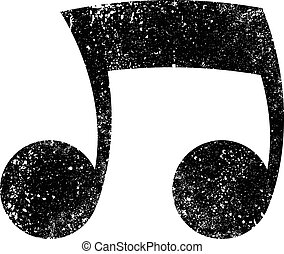 Music notes vector icon