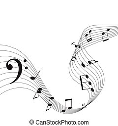 Music notes. Vector illustration.