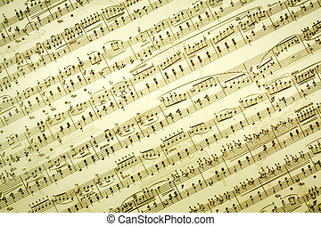 Music notes - Vintage music notes background