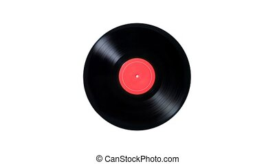 music notes. Vinyl Records fall into musical notes. music...