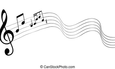 Musical note - Music notes. Musical note. Background for...