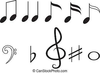 Music notes,set