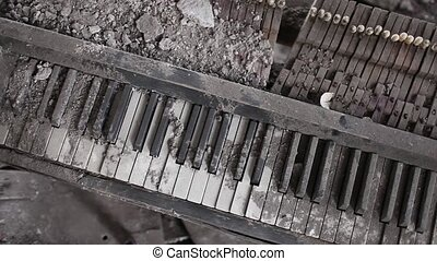 music of war - explosion of destroyed by the piano