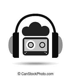 music online cloud headphone audio cassette