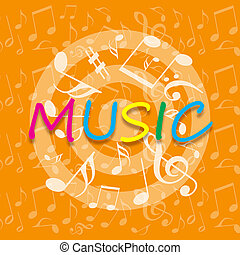 Music orange background