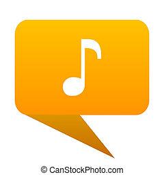 music orange bulb web icon isolated.