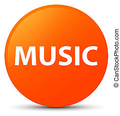 Music orange round button