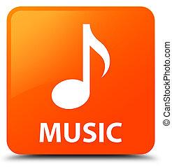 Music orange square button