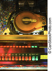 music., pénzbedobós gramofon automata, játék