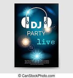 Music party brochure flyer template