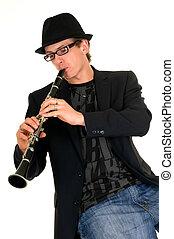Music performer, clarinet