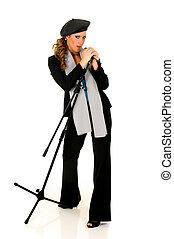 Music performer, singer - Attractive alternative dressed...