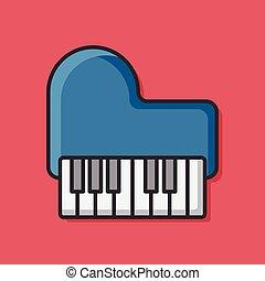 music piano icon vector