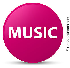Music pink round button