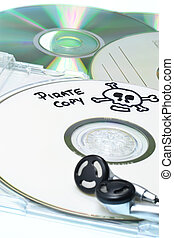 Music piracy concept - Music piracy with pirate copy cd and ...