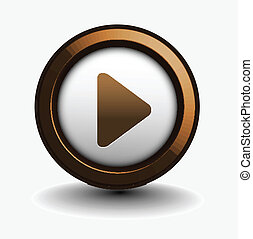 music play icon for web design element.
