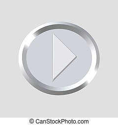 music player symbol - computer generated clipart
