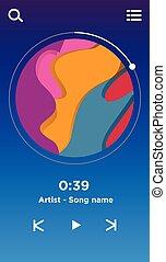 Music Player Interface UI Design Template