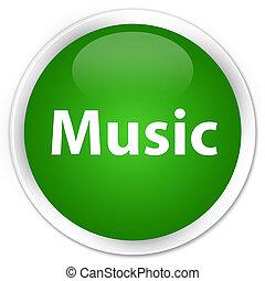Music premium green round button