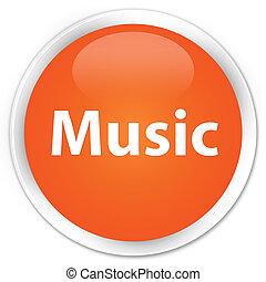 Music premium orange round button