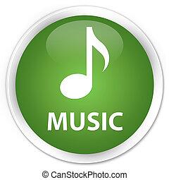 Music premium soft green round button