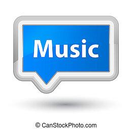 Music prime cyan blue banner button