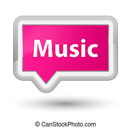 Music prime pink banner button