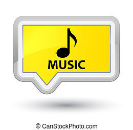 Music prime yellow banner button
