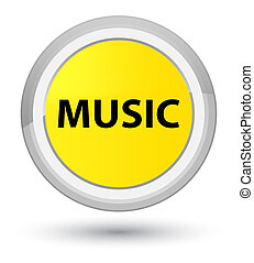 Music prime yellow round button
