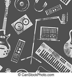 Music production pattern.