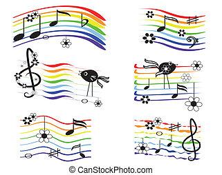 Music rainbow, set