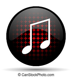 music red glossy web icon